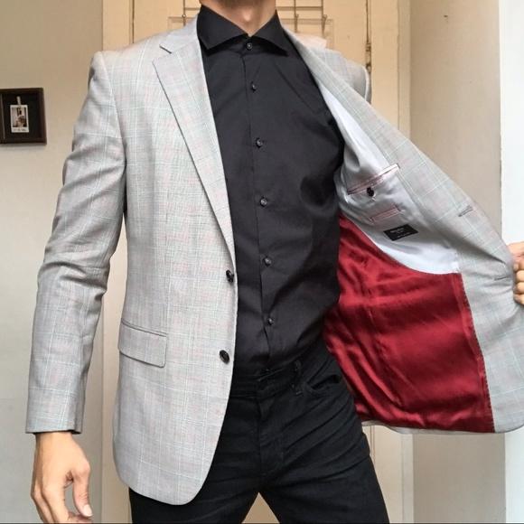 Sarar Glen Plaid Wool Blazer Sport Coat